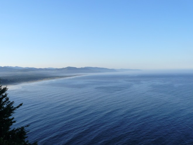 The Pacific Ocean along the Oregon coast.