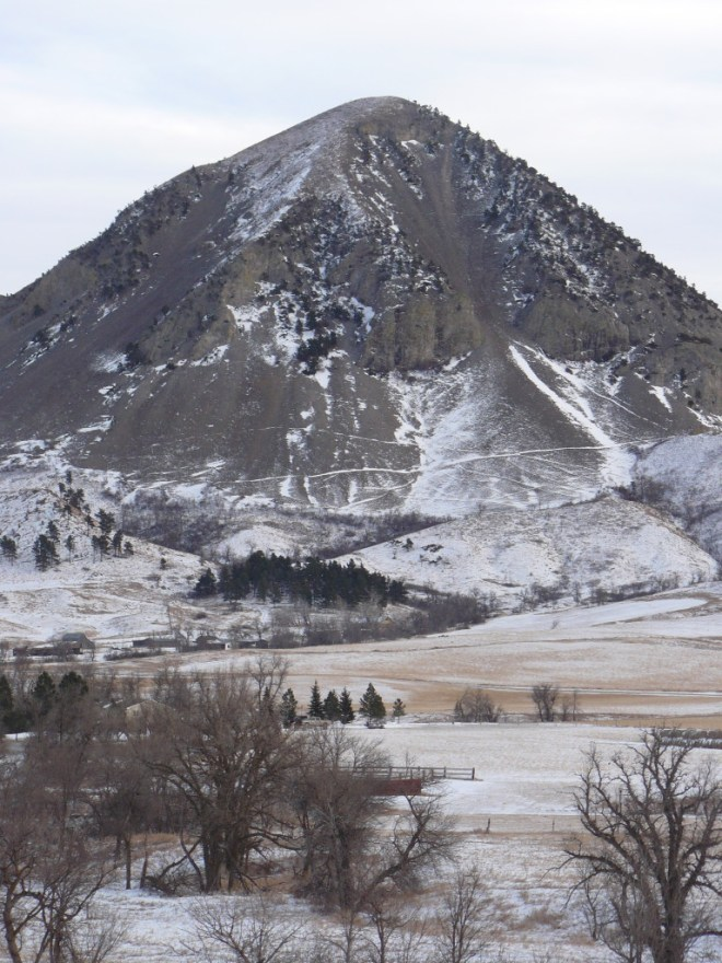 Bear Butte from the NW, 12-19-15