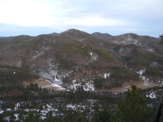 Union Hill (Center). Burnt Fork Road can be seen in the valley. Photo looks E.