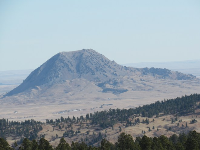 Bear Butte from USFS Road No. 376.1A on Crook Mountain, 3-5-16