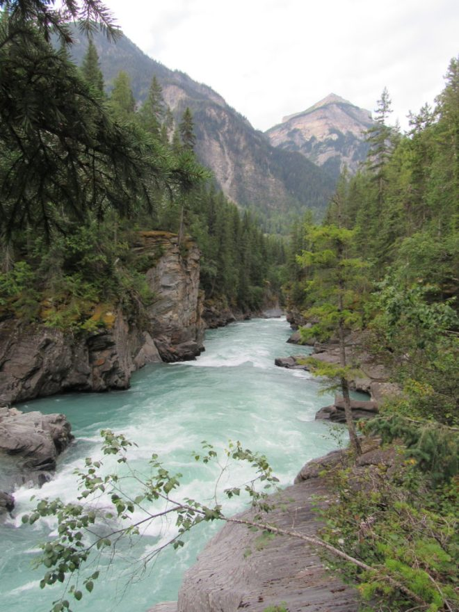 The Fraser River below Overlander Falls.
