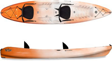 Sit-On-Tops For Two: Perception Tribe 13 5