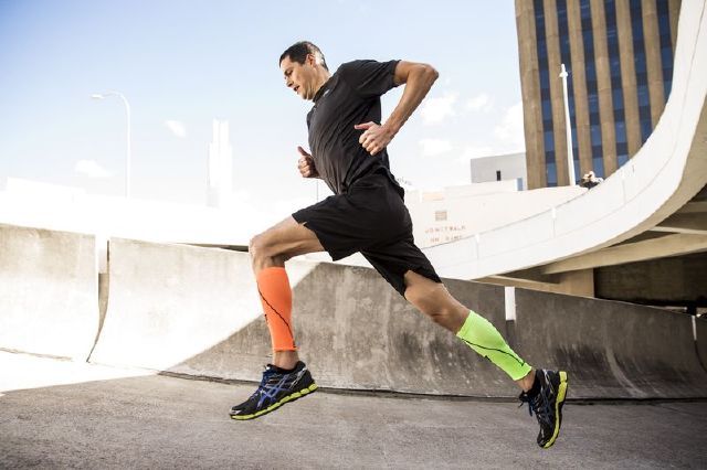 6721ba0030 Colorful calf sleeves are one type of compression clothing that helps  increase blood flow in the