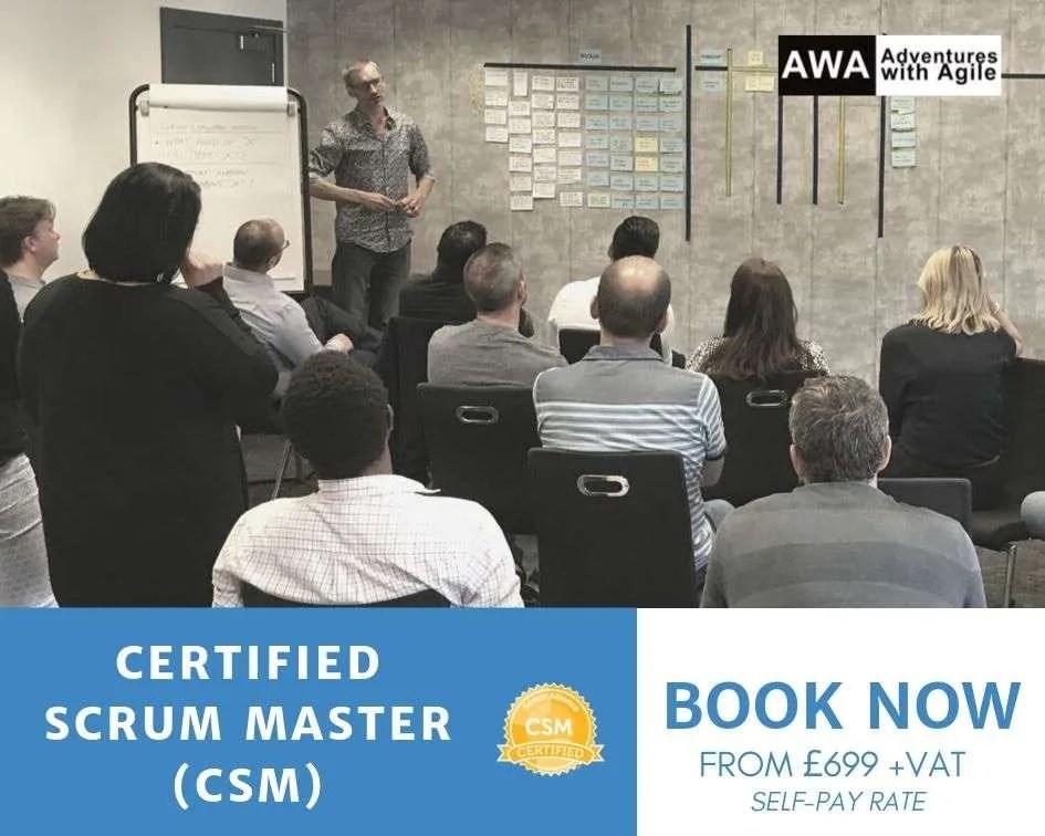 certified scrum master training london
