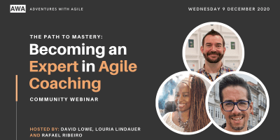 Meet Up Thumbnails - Becoming an expert in agile coaching