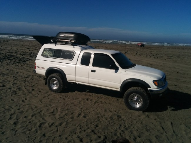 Truck on the beach