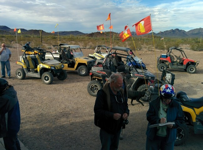 Beer flags on the ATVs