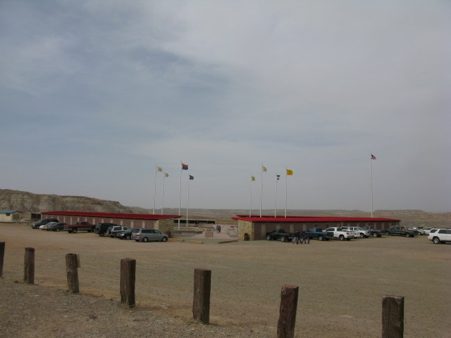 The Monument Itself Surrounded by Vendor Huts