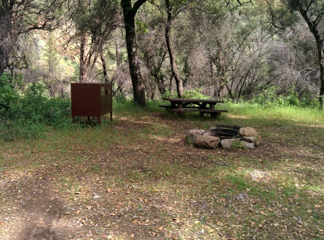 One of the Beautiful Campsites at Lumsden
