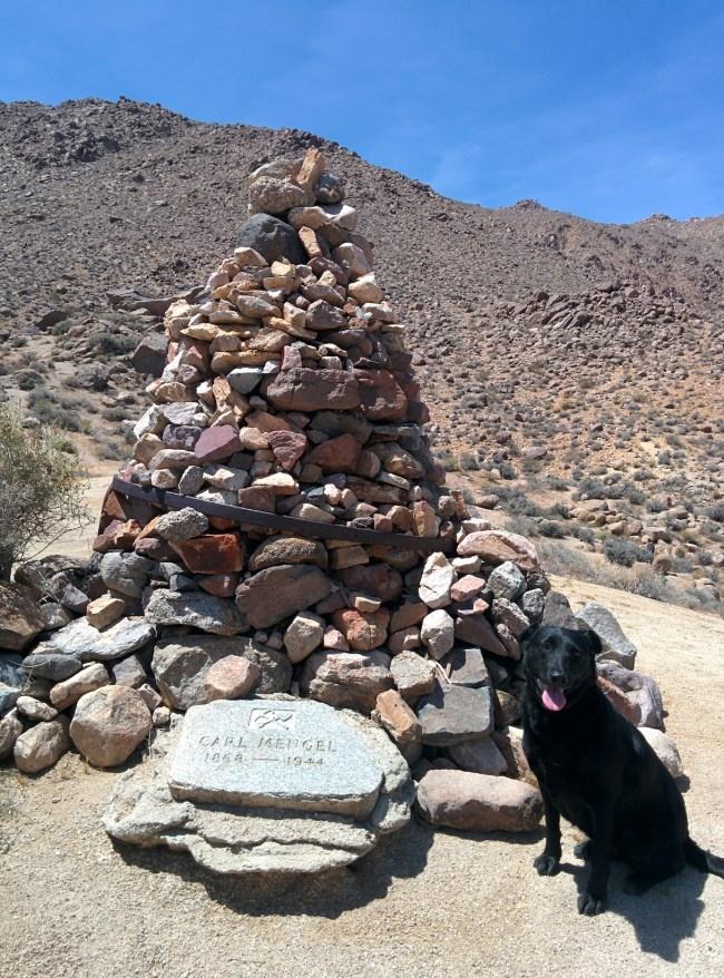 Mengel Stone Grave Marker Atop Mengel Pass