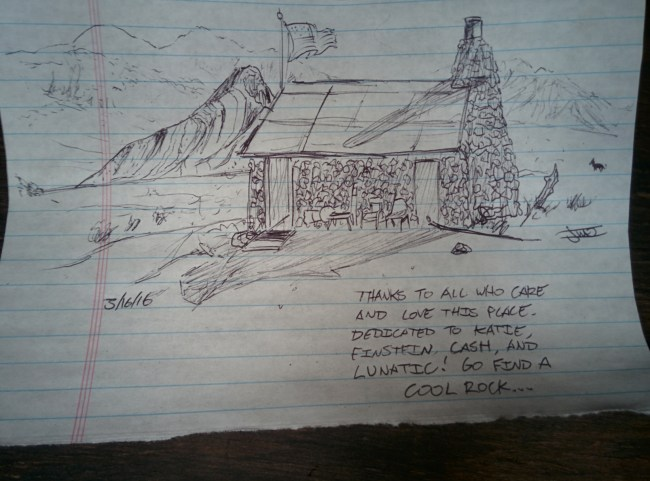 Ball Point Pen Artwork of the Cabin