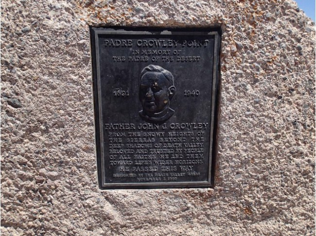 Close-Up Of The Plaque At The Parking Lot