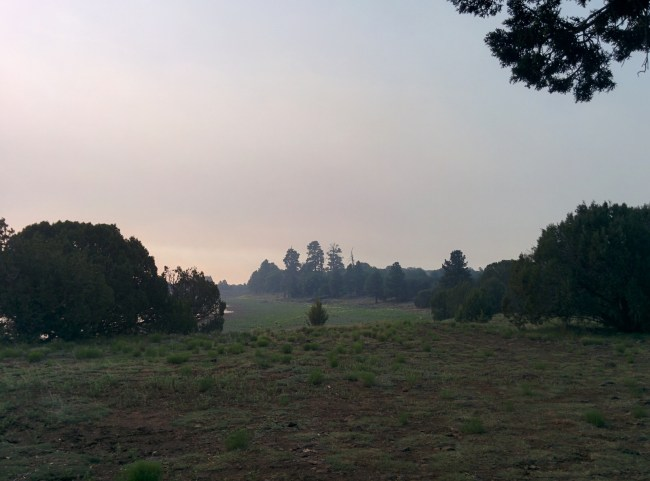 smoke across our campsite area