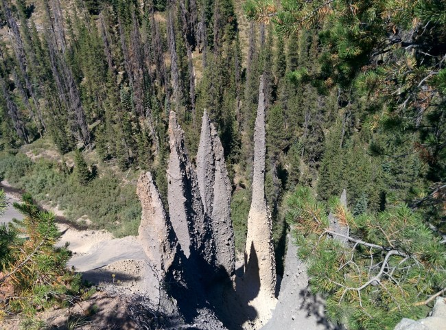 the two pinnacles that look like lovers in an embrace if you have an overly active imagination