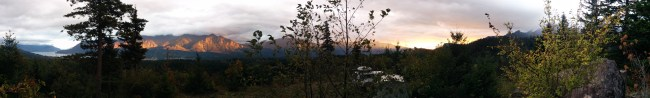 panorama from our clearing out towards the gorge area