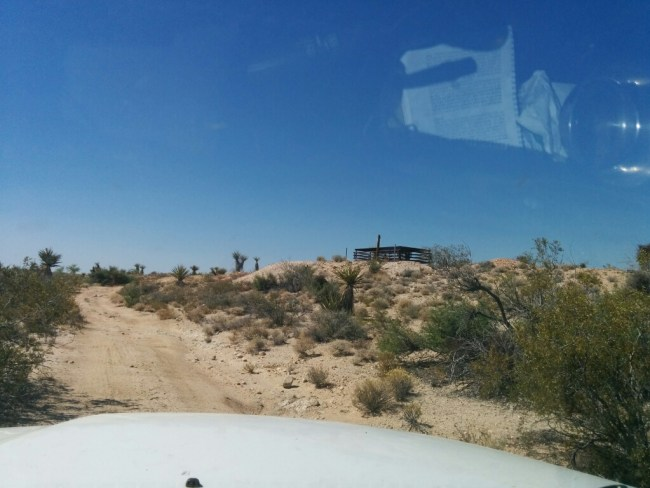 Driving Up To A Bat Gate Sealed Mine