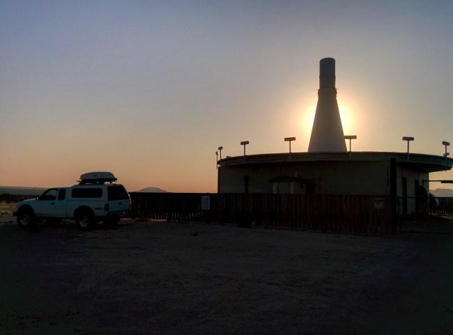 sun blocked by VORTAC tower