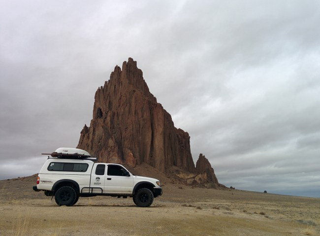 Tacoma in front of Shiprock