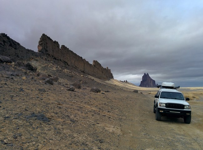 Next To The South Dike SHiprock in the background