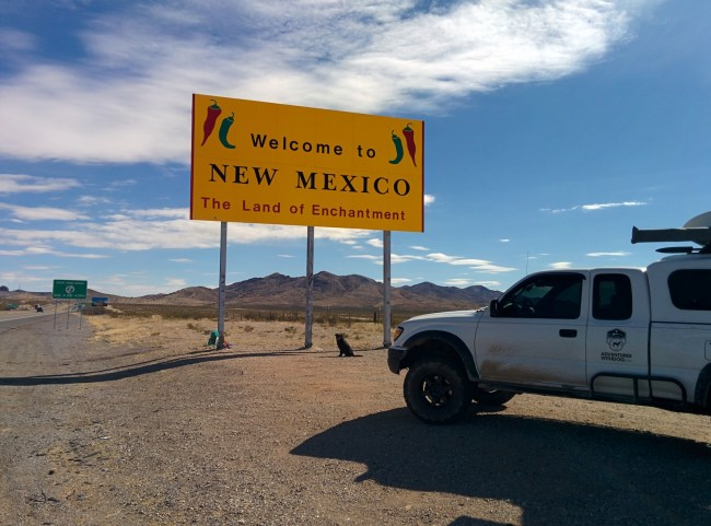 Welcome to New Mexico sign at the border