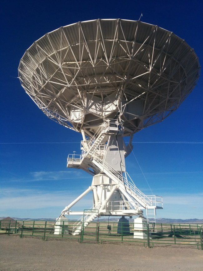 Newly Finished With Its Maintenance Visit An Antenna Sits At The Master Pad Undergoing Testing