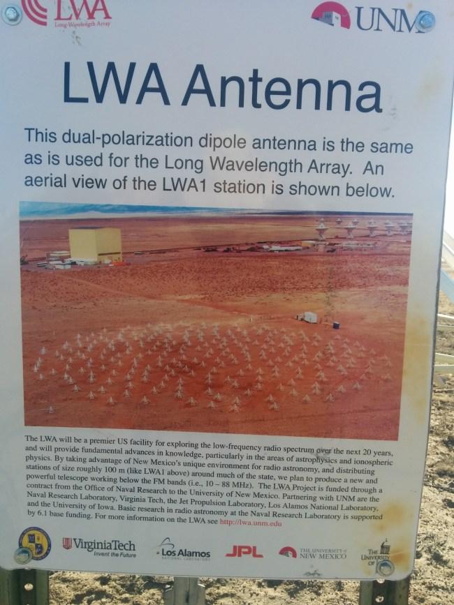 LWA Antenna Information Sign