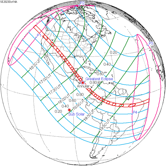 Path Of The October 2023 Eclipse