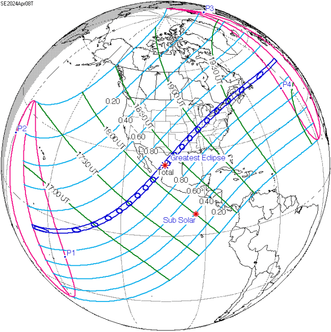 Path Of The 2024 Eclipse
