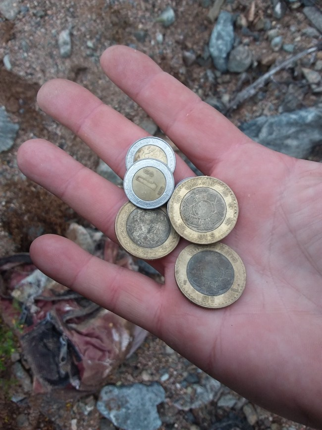 Pesos Found In The Small Pocket Of An Immigrant Child's Rotting Backpack
