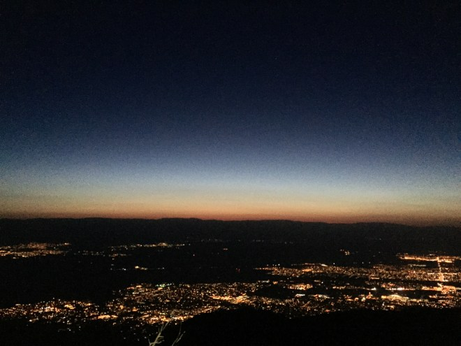 Predawn over Palm Springs