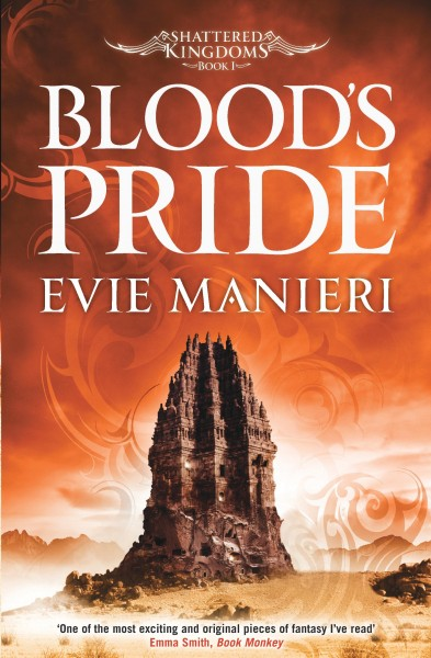 Review: Blood's Pride by Eve Manieri, Book 1 of the Shattered Kingdoms series