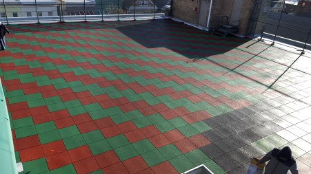 Rooftop Playground Surface Installers | Rubber Tiles Playground Surfacing | adventureTURF