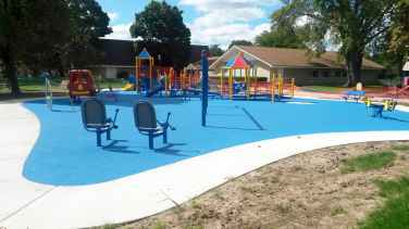 Playground Safety Flooring | Poured in Place Rubber Surface Installer | adventureTURF