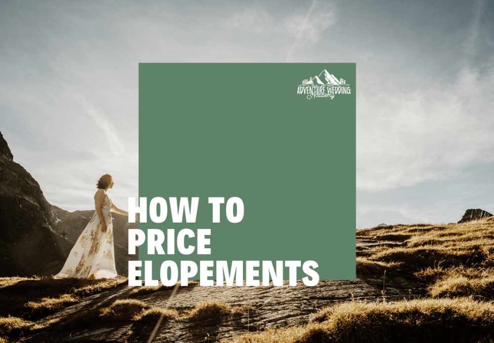blog header on how to price elopements