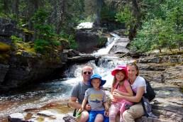 Waterfall on the way to Virginia Falls