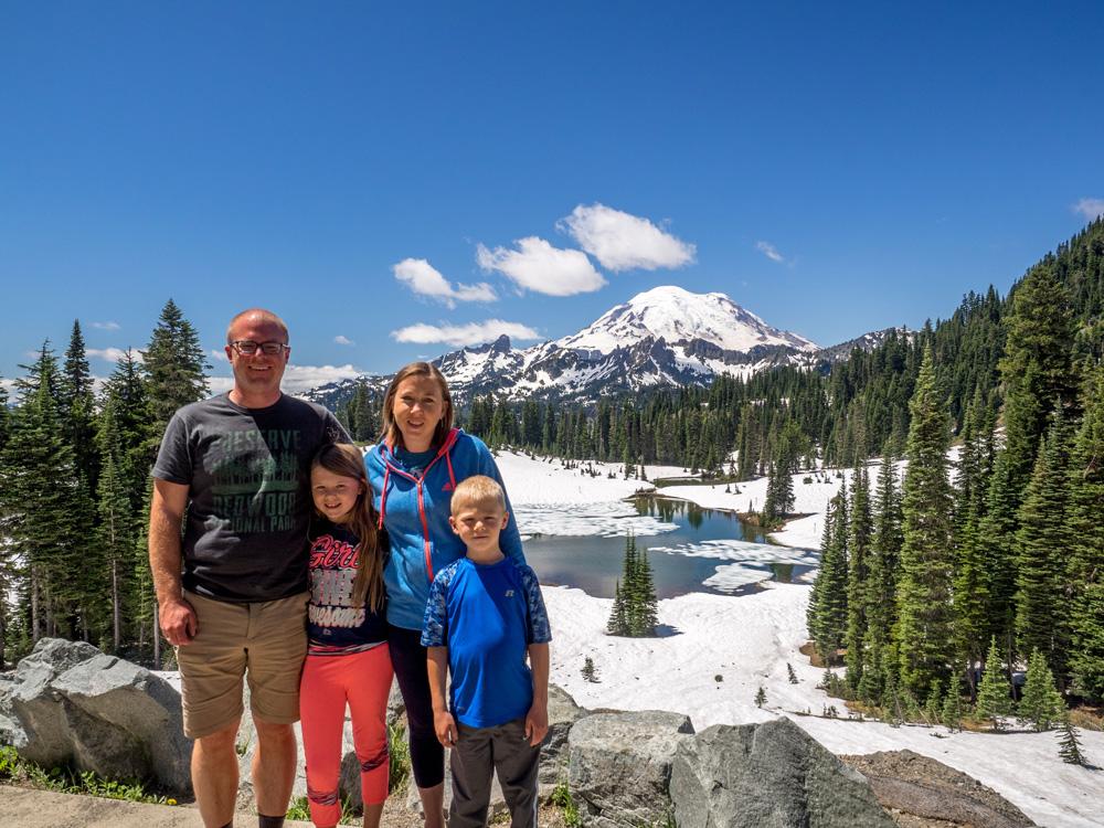 Tipsoo Lake Overlook. Mount Rainier National Park. www.adventuringbeyond.com