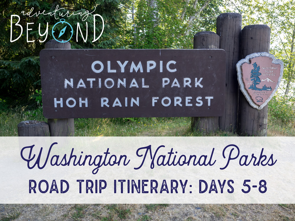 WA Road Trip Itinerary, Olympic National Park. www.adventuringbeyond.com