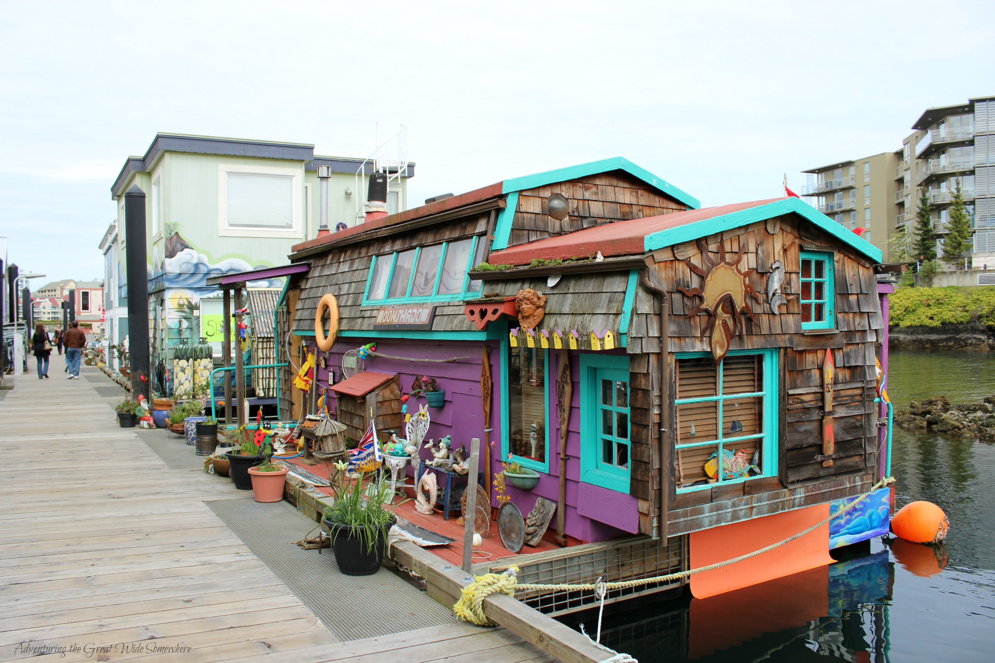 Victoria's Floating Home Village is Made up of an Assortment of Eclectic House Boats and Businesses