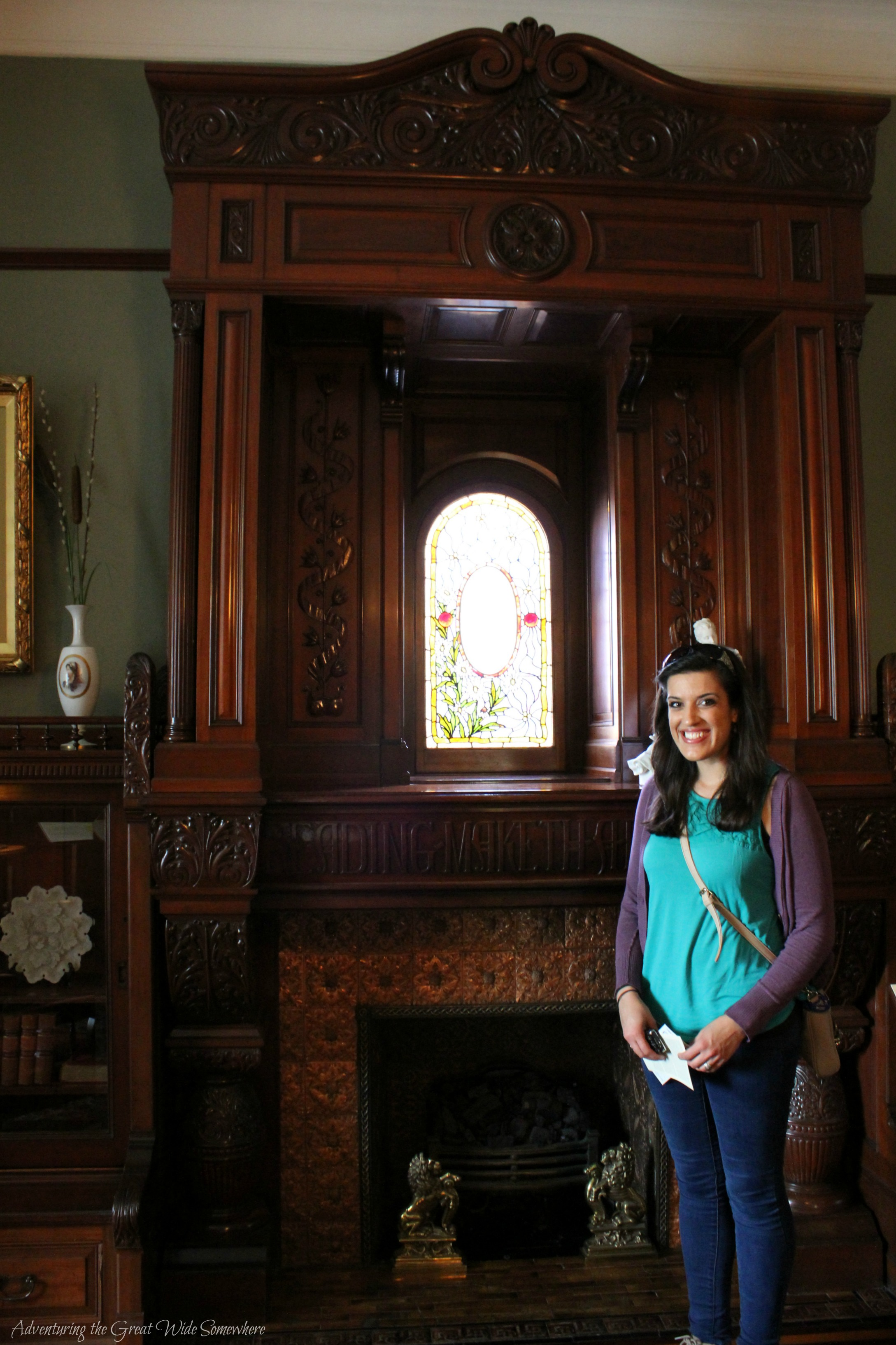 Nadya in the Library of Craigdarroch Castle, British Columbia