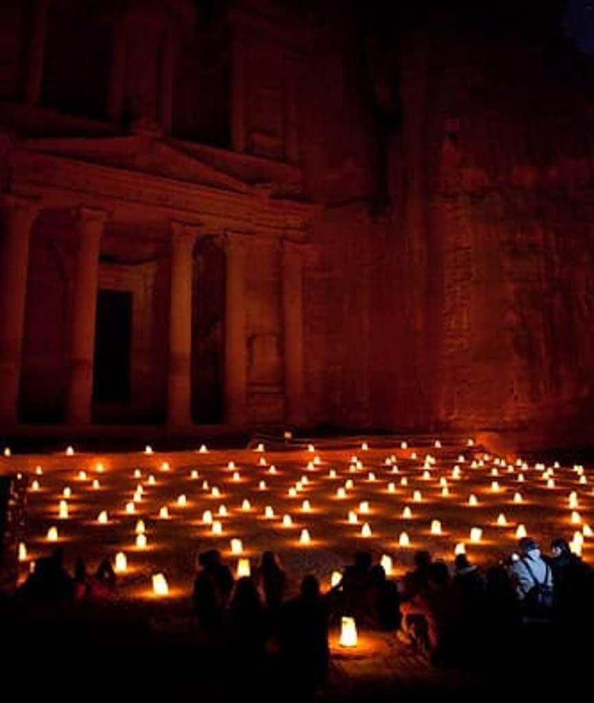 Debraj Petra by night, Jordan