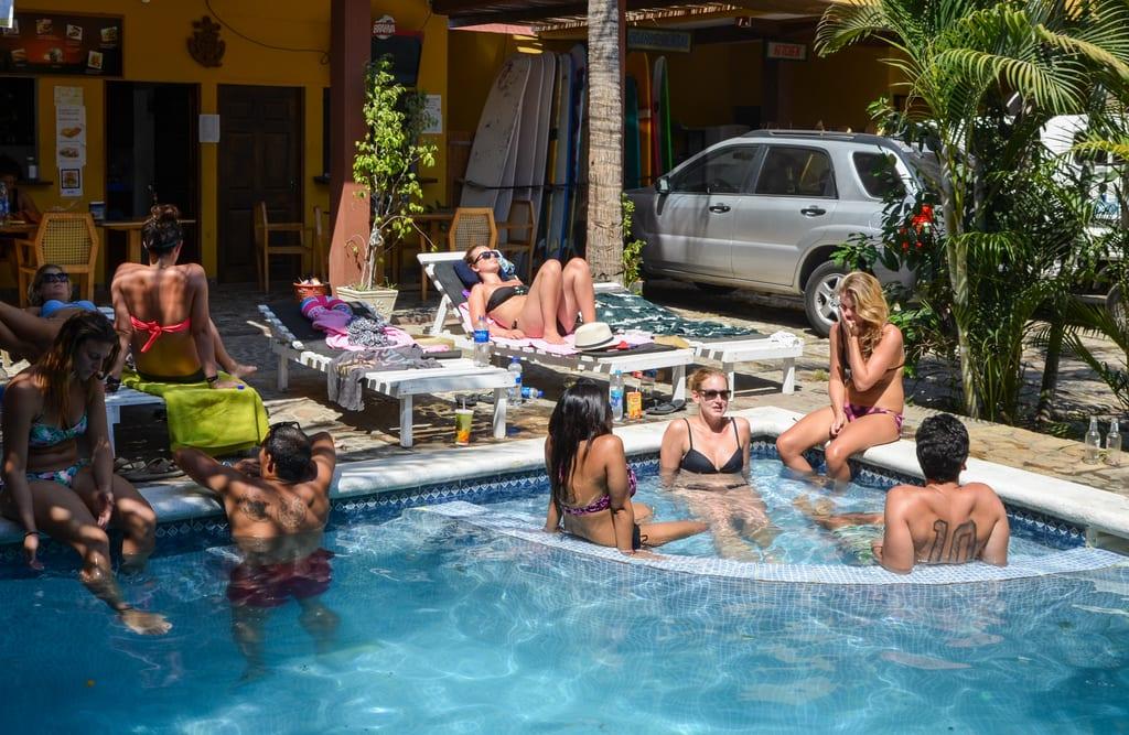 Papaya Lodge Pool El Tunco