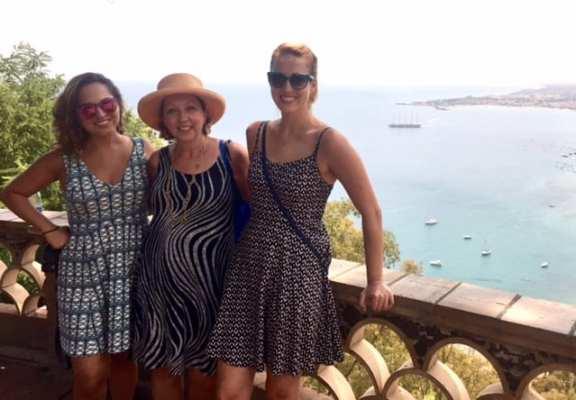 Kate, Mom and Sarah in Taormina