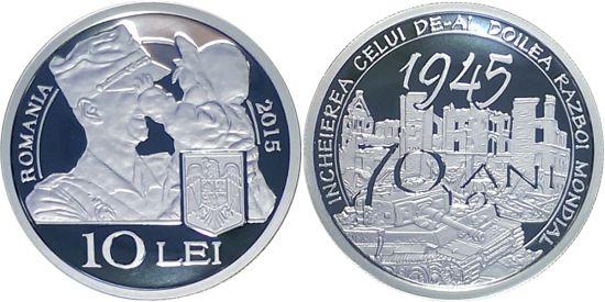 Emisiune numismatică dedicată aniversării a 70 de ani de la încheierea celui de-al Doilea Război Mondial