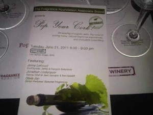 Food, Wine and Fragrance Work Together at the Fragrance Foundation's Pop Your Cork…Naturally
