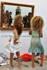 imitation of christ fashion show two little girls