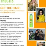 Backstage Beauty Fashion Week Fall 2013 Garnier Fructis at Kate Spade