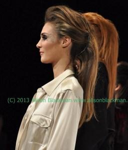 Big Hair! Patrick Melville for Aveeno & Lancome for MoniKa Chiang Fashion Fall 2013 @aveeno @patricksalon #monikaChiang #hair #MBFW
