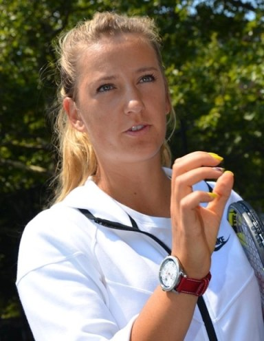 tennis player with watch