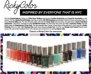 """A Color For Everyone, Inspired by Everyone """"NYC"""" @Rickys_NYC #RickyColor"""