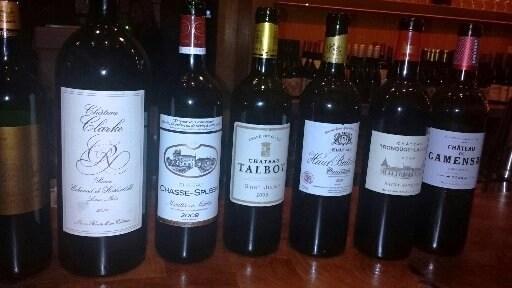 wine bottles medoc